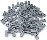 Robot Arm *NEW* Lego 100 Pcs Bluish Gray Bar 1x3 w Clip and Stud Receptacle