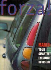 Fiat Forza Magazine Autumn 1996 UK Market Brochure Bravo 2.0 HGT Marea
