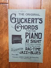Guckert'S Chords For The Piano At Sight Rag Time Blues Jazz 1921 Union Music Co
