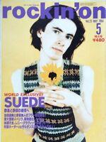 rockin'on 5/1994 Japan Music Magazine Suede Manic Street Preachers Beck Beatles