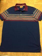 Puma Golf Dry Cell Polo Shirt Blue Sz Medium Excellent