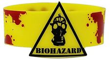 Caution Biohazard rubber wristband    (cv)  REDUCED - one only