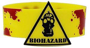 Caution Biohazard rubber wristband (cv) REDUCED