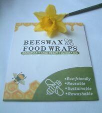 Beeswax Food Wrap 100% Natural Organic Cotton Reusable Eco-Friendly Set of 3