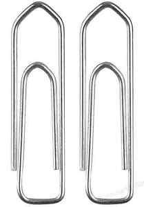 500 Pièce Extraits de la Lettre Trombone 26mm Galvanisé Bureau Agrafes Argent