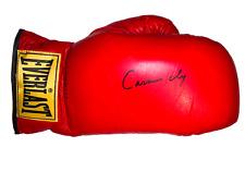 Muhammad Ali última firmado guante como Cassius Clay en Reino Unido 1963 Henry Cooper cert. de autenticidad