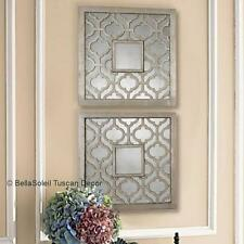 S/2 French Tuscan Old World Mediterranean Style Mirrors Horchow