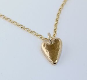 """NECKLACE all SOLID 9ct GOLD 4g HEART PENDANT 18-22"""" BELCHER CHAIN 4g HALLMARKED"""