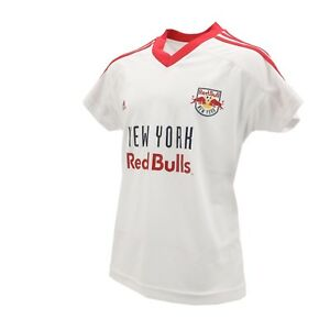 New York Red Bulls Official MLS Adidas Youth Girls Size Athletic Jersey New Tags