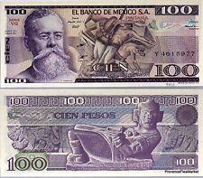 MEXIQUE billet neuf de 100 pesos Pick74c  la TRINCHERA  V. CARRANZA 1982