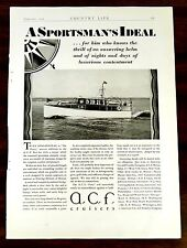 The Forty Yacht Boat Ship American Car & Foundry Co. Cruisers Ad 1929