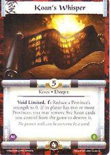 Koan's Whisper  L5R CCG CoM  FOIL