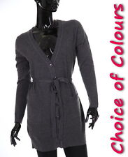 NEW Ladies Boyfriend Long Cardigan Size 8-10 12-14 Tops