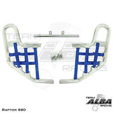 Yamaha Raptor 660  YFM660  Nerf Bars   Alba Racing  Silver/Blue 203 T1 SL