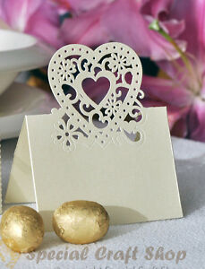 Cut-out Wedding Birthday Christmas Table Decoration Place Name Cards(Pack of 10)