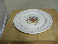 Made in England Wedgwood - Belmar Pattern - Round Platter or Chop Plate - 13""