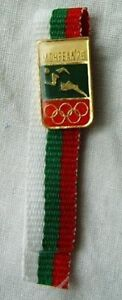 OLYMPIC pin Olympic Committee Bulgaria Montreal 1976 Athletics Rare