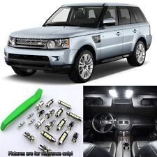White 15pcs Interior LED Light Kit for 2006-2012 Range Rover Sport + Free Tool