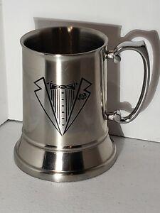 Viski Stainless Steel Beer Stein mug 16oz. Tuxedo  print on front.  New