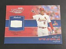 Albert Pujols 2002 Playoff Piece Of The Game Game Used Base Relic Cardinals