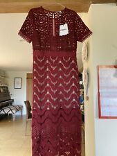 Brand New Tags Essentiel Antwerp Womens Claret Red Dress 38 UK10
