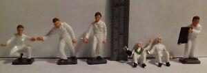 Original 1960s Corgi Toys 1501 Drivers & Pits Mechanics figures FULL SET OF 6