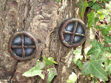 Pair of Stone Fairy Windows Round Design for your fairy door or garden