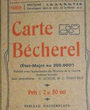 ANCIENNE CARTE GEOGRAPHIQUE ETAT-MAJOR 200.000e BECHEREL N° 61 LARCHE CORREZE