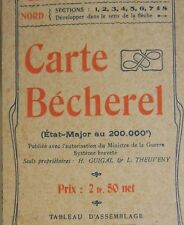 Antike Karte Geographisch Personal 200.000e Bécherel Nr. 43 Sables D Olonne