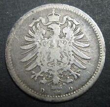 ALLEMAGNE - EMPIRE GERMANIQUE - 20 PFENNIG 1876 D