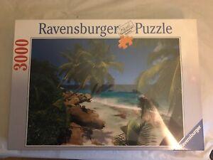 RARE Ravensburger 3000 Piece Jigsaw Puzzle Tropical Seychelles Islands #170227