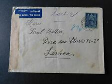 """SWITZERLAND - 1942 """" CENSORED AIRMAIL COVER To PORTUGAL From HERZOGENBUCHSEE """""""