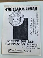 Dead Milkmen + Sister Double Happiness concert flyer -1992