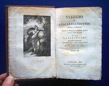 Viaggio di Anacarsi il giovane - Barthélemy - Giuseppe Antonelli ed. 1828