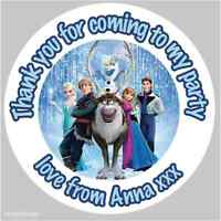 35 x Personalised Frozen Party Bag Stickers Labels Favours Sweet Cones Elsa 132