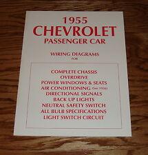 1955 Chevrolet Passenger Car Wiring Diagrams Manual 55 Bel Air 150 210