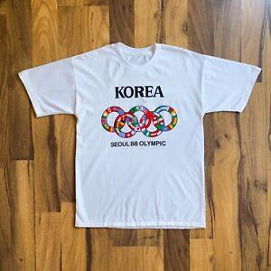 VINTAGE 1988 SEOUL KOREA OLYMPIC GAMES PRINTED T-SHIRT