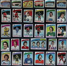 1976-77 Topps Hockey Cards Complete Your Set You U Pick From List 133-264