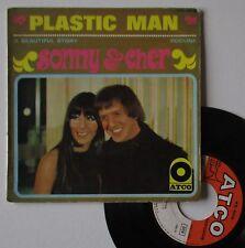 """Vinyle 45T Sonny & Cher  """"plastic man"""""""