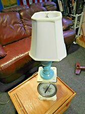 Vtg~Nursery~Baby~Boy~Chil d~Wooden~Lamp~Light made from baby scale lamp, new