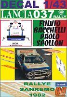 DECAL 1/43 LANCIA 037 RALLY F.BACHELLI R. SANREMO 1982 DnF (01)