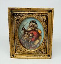 Vintage Victorian Santa Claus Picture Frame Dollhouse Miniature 1:12