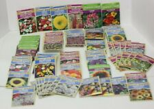 80 Packs Seed Lot of Flowers Over $110 Value Hollyhock, Zinnia, Wildflowers.