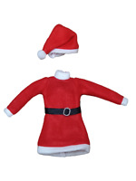 MADE FOR BARBIE SINDY DOLL CHRISTMAS XMAS SANTA CLAUS RED FESTIVE DRESS & HAT