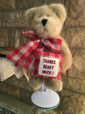"Boyds Bear ""Thanks Beary Much� #903001V Retired The Head Bears Zoo Plush"