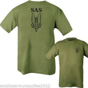 BRITISH ARMY SAS T-SHIRT MENS S-2XL SPECIAL AIR SERVICE WHO DARES WINS COTTON