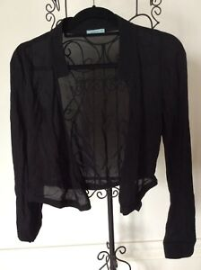 Kookaï Black Shirt Blouse Sz 34 Long Sleeved New $199