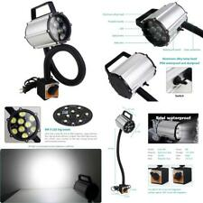 LED Work Light IP66 Waterproof Gooseneck Lamp 9W Magnetic CNC Machine Silver