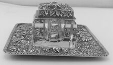 Jacobi & Co.  Baltimore STERLING SILVER Inkwell and Tray Desk Accessory Set