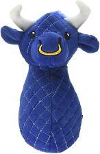 "TrustyPup Bull Plush Dog Toy with Squeaker By Worldwise Godog Trusty 8"" medium"